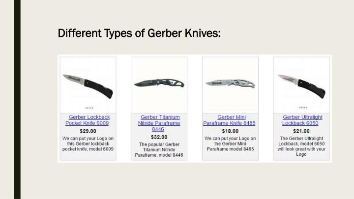 Different Types of Gerber Knives: