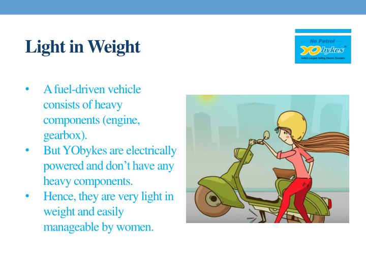 Light in weight