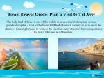 israel travel guide plan a visit to tel aviv