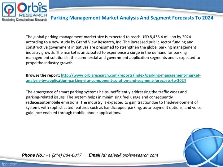 Parking management market analysis and segment forecasts to 20241