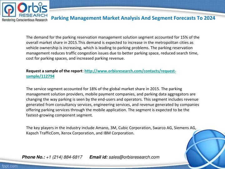 Parking management market analysis and segment forecasts to 20242