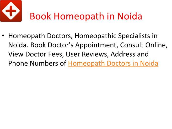 Book homeopath in noida
