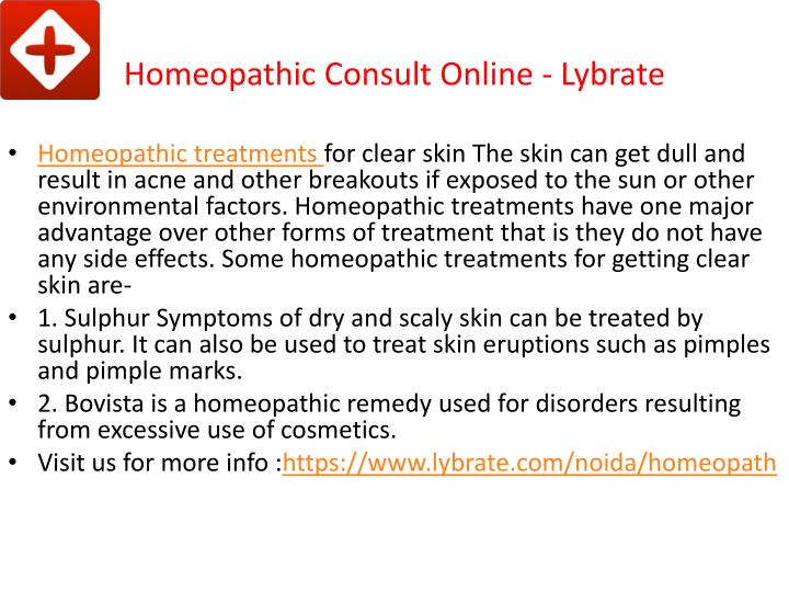 Homeopathic consult online lybrate