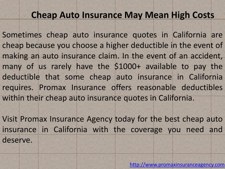Cheap Auto Insurance May Mean High Costs