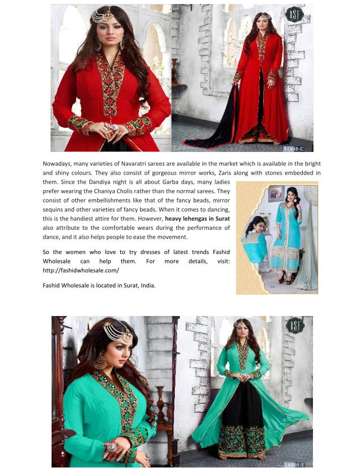 Nowadays, many varieties of Navaratri sarees are available in the market which is available in the b...