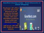gearbest voucher codes great discounts on online shopping