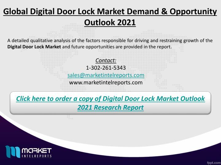 Global Digital Door Lock Market Demand & Opportunity Outlook 2021