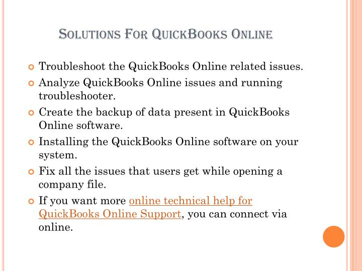 Solutions For QuickBooks Online