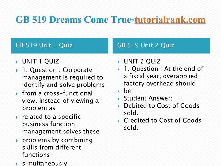 Gb 519 dreams come true tutorialrank com2
