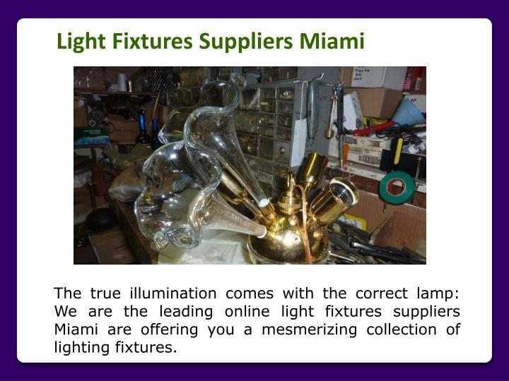 Light Fixtures Suppliers Miami