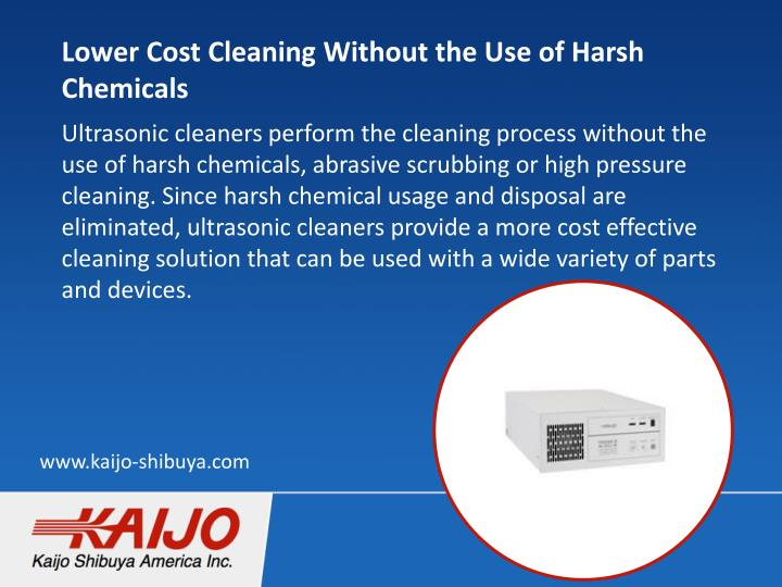Lower Cost Cleaning Without the Use of Harsh Chemicals