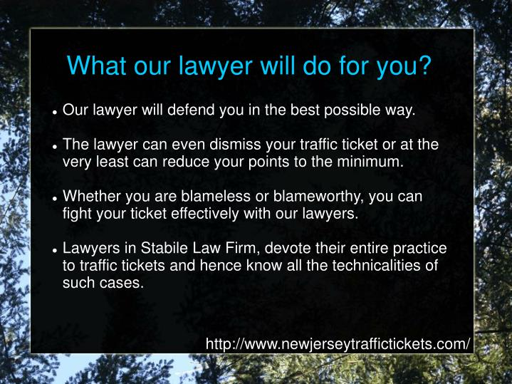What our lawyer will do for you?