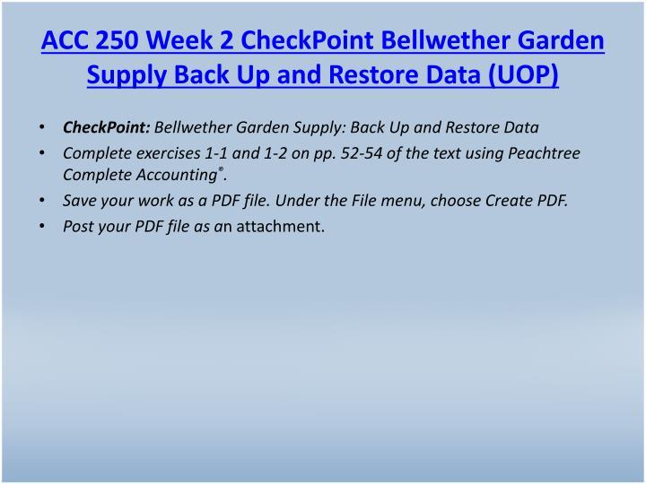 ACC 250 Week 2