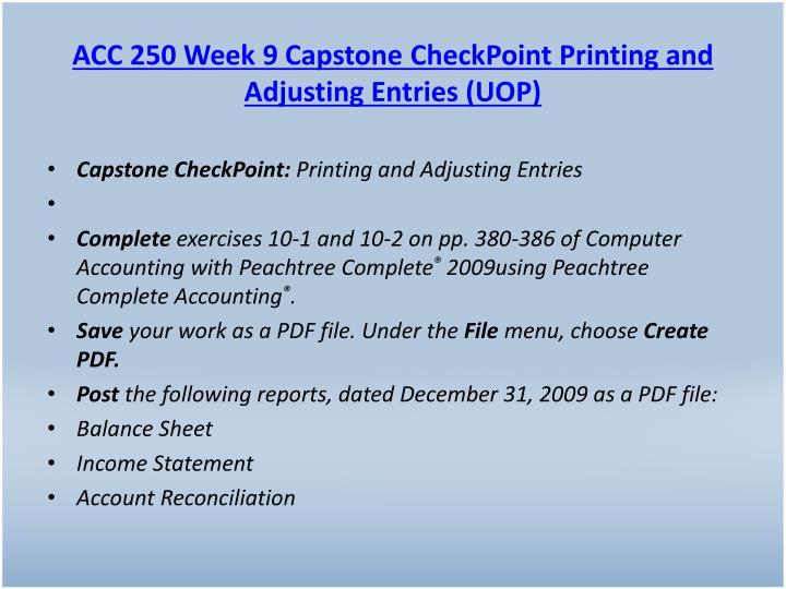 ACC 250 Week 9 Capstone