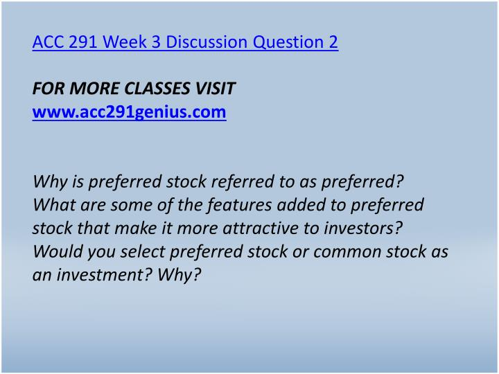 ACC 291 Week 3 Discussion Question 2
