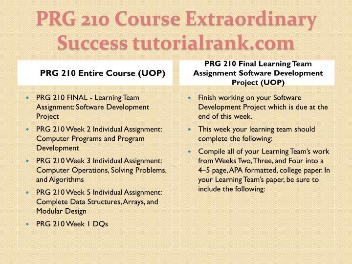 Prg 210 course extraordinary success tutorialrank com1