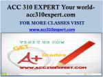 acc 310 expert your world acc310expert com