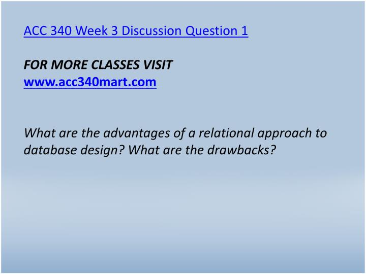 ACC 340 Week 3 Discussion Question 1
