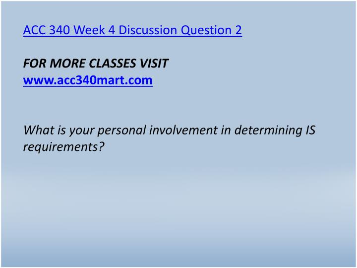 ACC 340 Week 4 Discussion Question 2