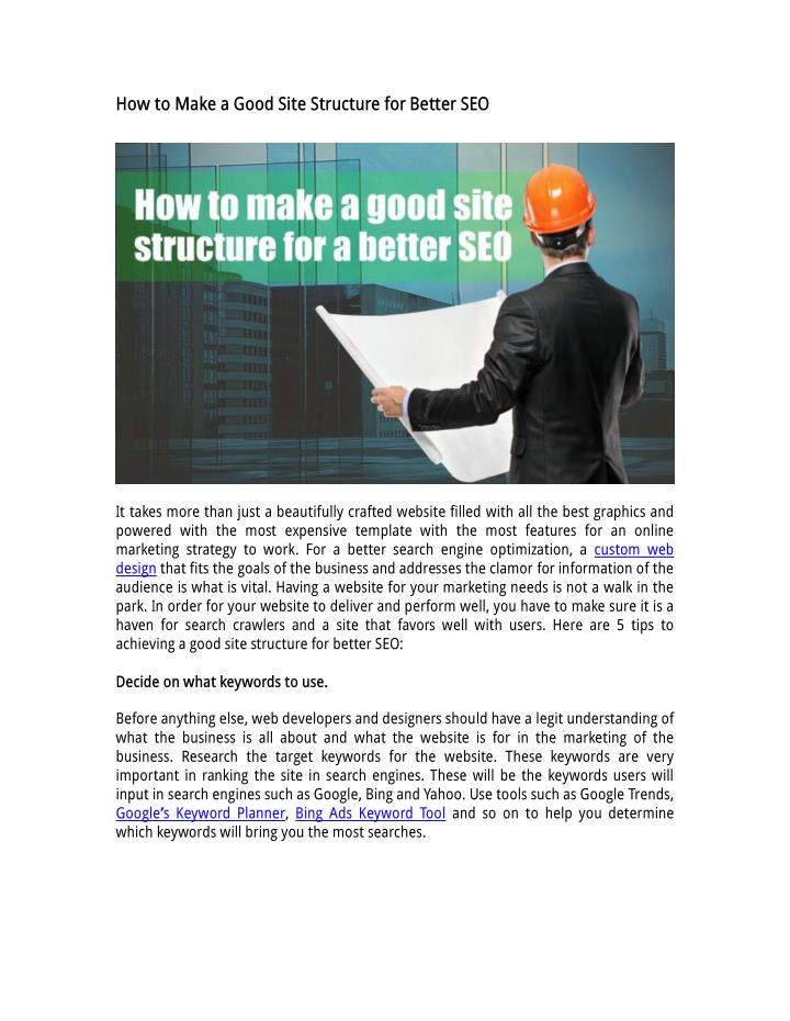How to Make a Good Site Structure for Better SEO
