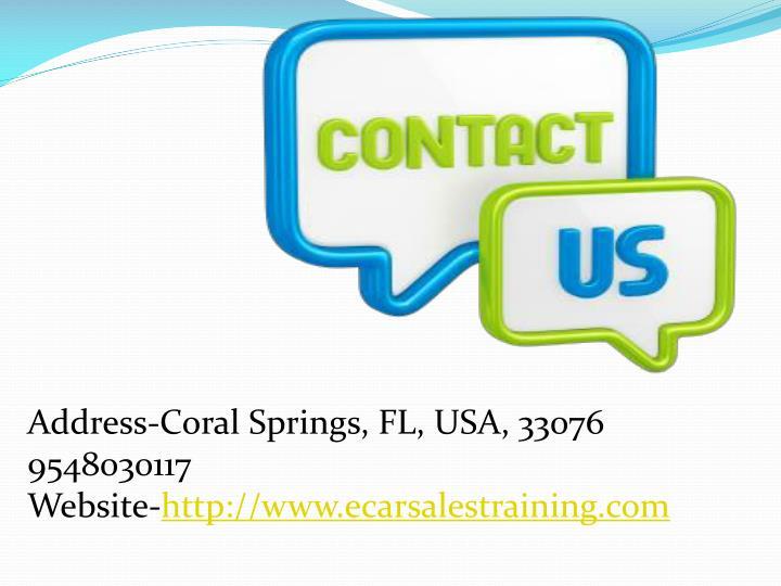 Address-Coral Springs, FL, USA, 33076