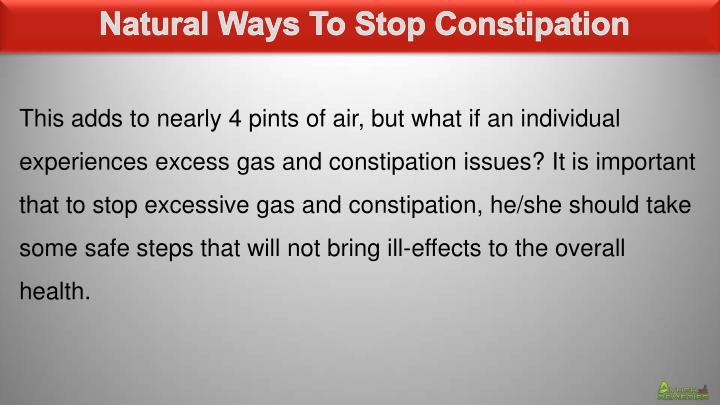 Natural Ways To Stop Constipation