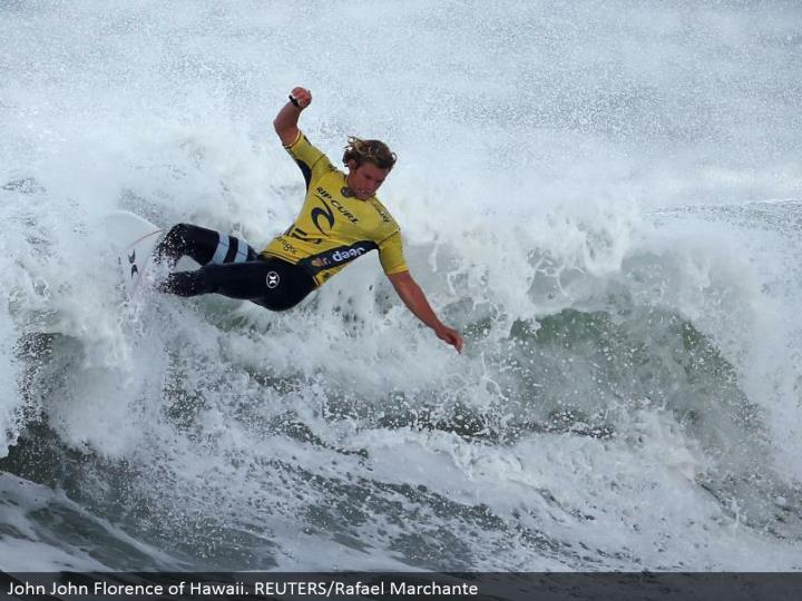 John John Florence of Hawaii. REUTERS/Rafael Marchante