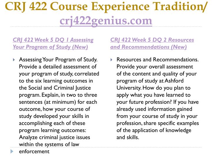"""crj 422 week 1 dq 2 Assignment 4, conference, final papers clicker quiz: pope john paul ii, """"the   for more course tutorials visit crj 422 entire course crj 422 week 1 dq 1."""