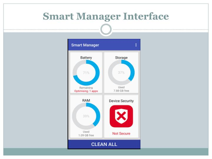 Smart manager interface