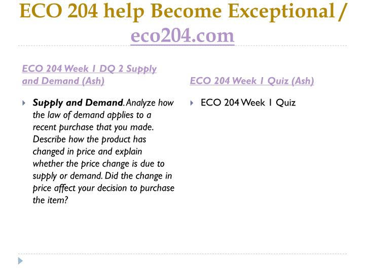 Eco 204 help become exceptional eco204 com2