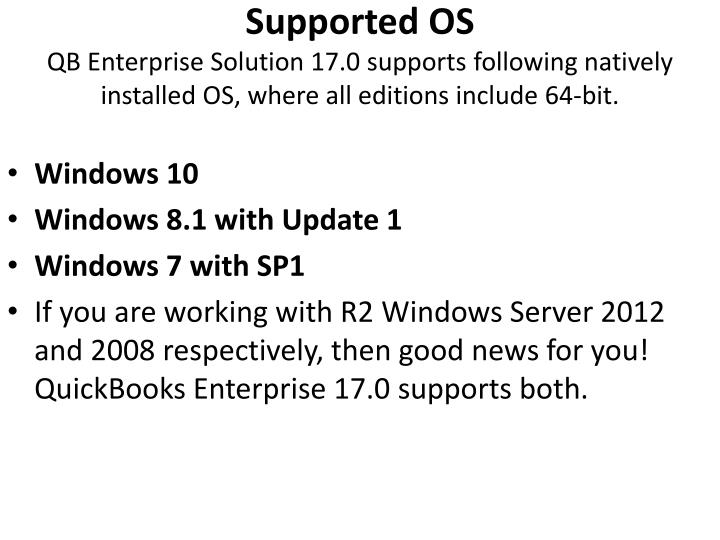 Supported OS