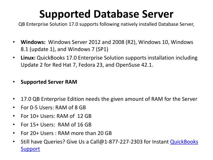 Supported Database