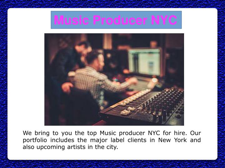 Music Producer NYC