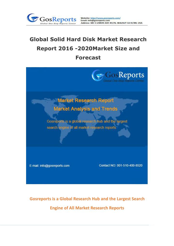Global Solid Hard Disk Market Research