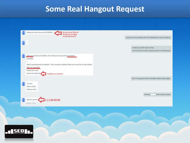 Some Real Hangout Request