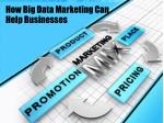 how big data marketing can help businesses