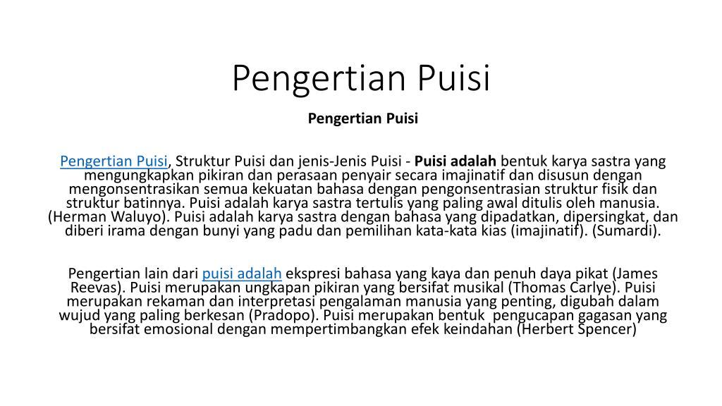 Ppt Pengertian Puisi Powerpoint Presentation Id 7429854