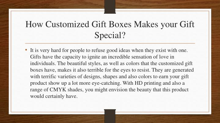 How customized gift boxes makes your gift special