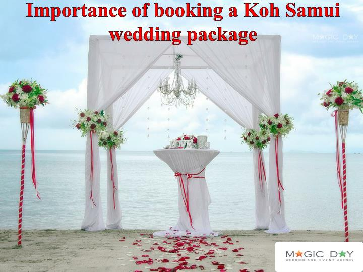 importance of booking a koh samui wedding package