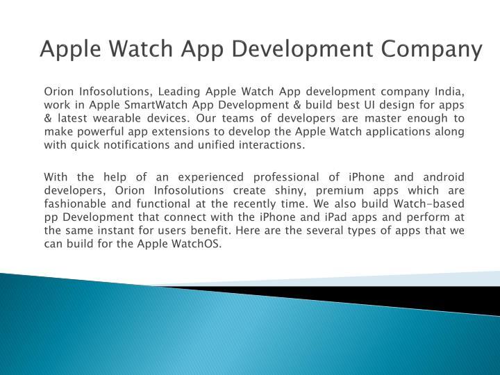 Apple watch app development company1