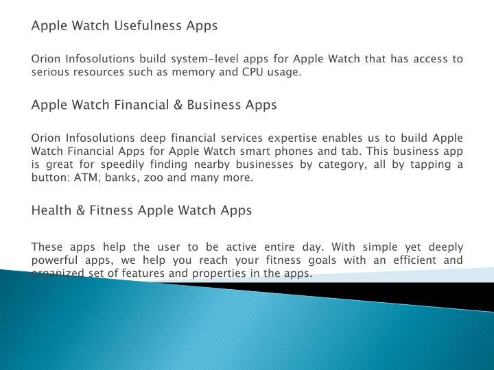 Apple Watch Usefulness
