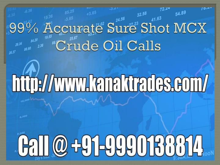 99 accurate sure shot mcx crude oil calls