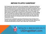 method to apply careprost