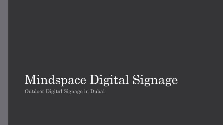 mindspace digital signage n.