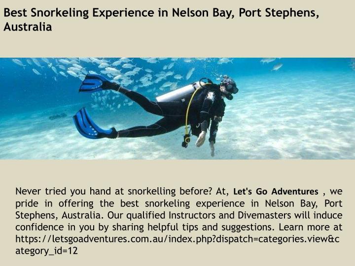 Best Snorkeling Experience in Nelson Bay, Port Stephens, Australia
