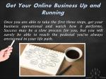 get your online business up and running