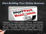 start building your online business