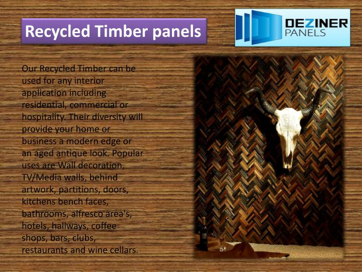 Recycled Timber panels