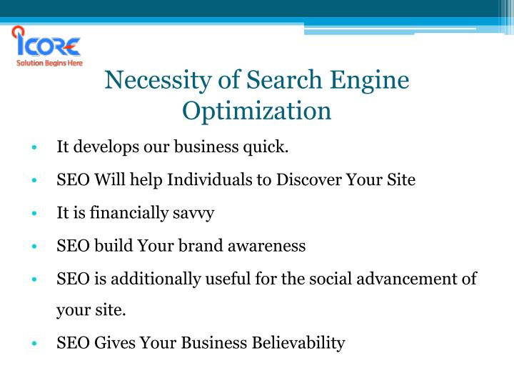 Necessity of search engine optimization