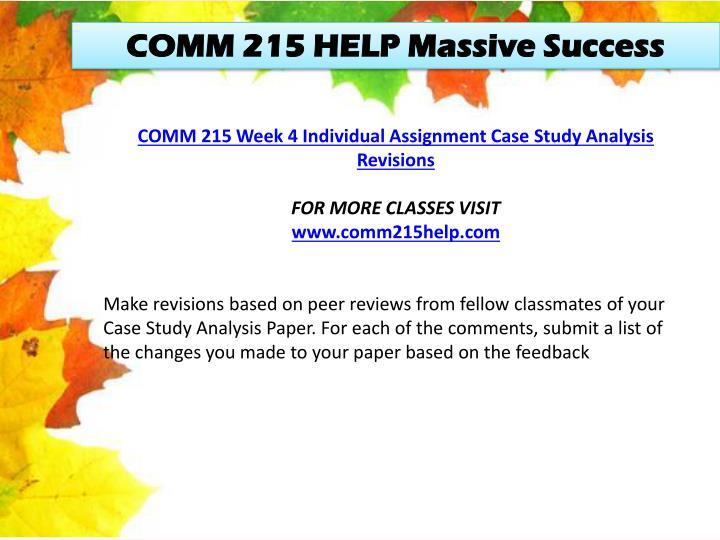 COMM 215 HELP Massive Success